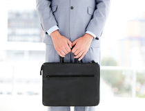 Close up of a businessman holding a briefcase Stock Photography
