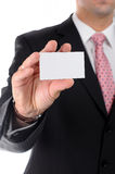 Close up businessman holding business card Stock Photography