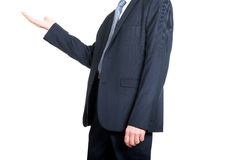 Close up on businessman holding copyspace Royalty Free Stock Image