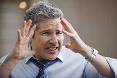 Close-up of a businessman looking frustrated Royalty Free Stock Photography