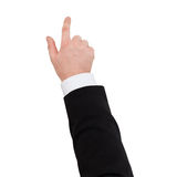 Close up of businessman pointing to something Royalty Free Stock Images