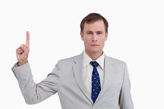 Close up of businessman pointing up Royalty Free Stock Photography