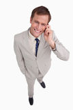 Close up of businessman scratching his head Stock Image