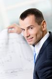 Close up of businessman with sketch Stock Photography