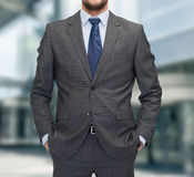 Close up of businessman standing outdoors Stock Images