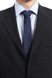 Close up of a businessman suit and necktie Stock Images