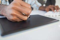 Close up of businessman using digitizer Royalty Free Stock Photos