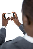 Close-up of businessman using mobile phone Royalty Free Stock Photography