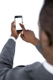 Close-up of businessman using mobile phone Royalty Free Stock Photos