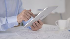Close Up of Businessman Using Tablet. The Close Up of Businessman Using Tablet, high quality stock video