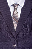 Close up of businessman wearing a tie, Royalty Free Stock Photos
