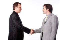 Close up of businessmen shaking hands Royalty Free Stock Images