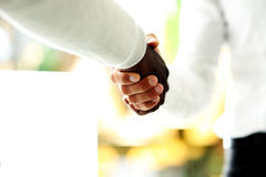 Close-up of businessmen shaking hands Royalty Free Stock Photo