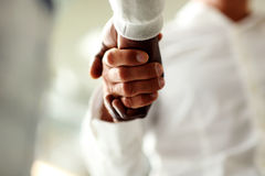 Close-up of businessmen shaking hands Stock Image