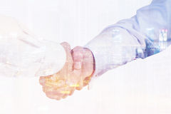Close up of businessmen shaking hands Royalty Free Stock Image