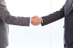 Close up of businessmen shaking their hands Stock Photo