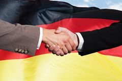 Close-up Of Businesspeople Shaking Hands stock photo