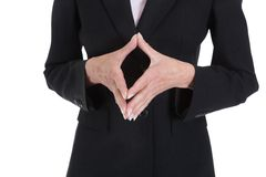 Close Up Of Businesswoman Hand Gesturing Stock Photography