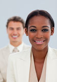 Close-up of a businesswoman and her colleague Royalty Free Stock Photo