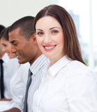 Close-up of businesswoman and her team Royalty Free Stock Photography