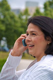 Close up of businesswoman with phone Stock Photography