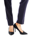 Close up on businesswoman slim legs Royalty Free Stock Photo