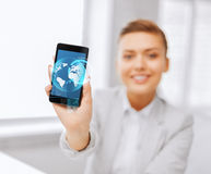 Close up of businesswoman with smartphone Stock Images