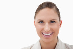 Close up of a businesswoman smiling at the camera Stock Image
