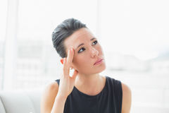 Close up of a businesswoman suffering from headache Royalty Free Stock Photography