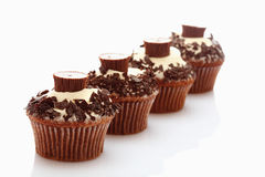 Close up of buttercream cupcake with chocolate crumble Stock Images