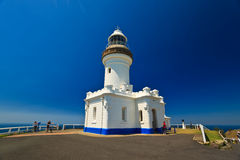 Close up of Byron Bay Lighthouse with Cyclists Stock Photography