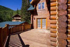 Close up on a Cabin Stock Images