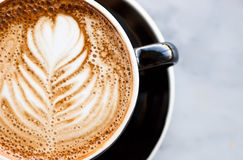Close Up Caffe Latte Stock Image