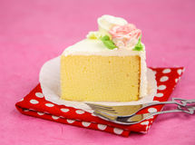 Close up of cake against pink background Stock Photography