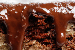 Close up of cake with chocolate Royalty Free Stock Photo
