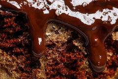 Close up of cake with chocolate Royalty Free Stock Image