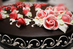 Close up of cake with decoration Stock Image