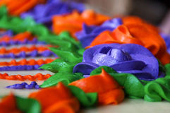 Close up cake frosting flower Stock Photos