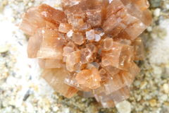 Close up calcite crystal isolated, mineral Royalty Free Stock Image