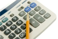 Close up of calculator Royalty Free Stock Photography