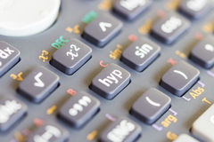 Close up calculator botton Stock Images