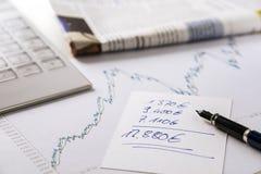 Stock exchange earnings Stock Image