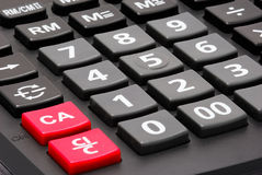 Close up calculator buttons Stock Images
