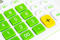 Close-up of calculator buttons Stock Images