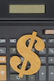 Close-up of a calculator with a dollar sign Stock Photography