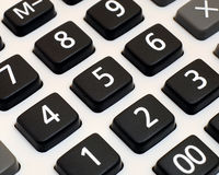 Calculator keypad. Black an white calculator keypad for office or home use Stock Photography