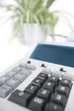 Close-up of calculator in office Stock Images