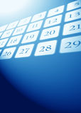 Close up of a calendar Royalty Free Stock Image