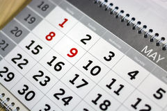 Close-up calendar. concept planning, count the days, time management stock images