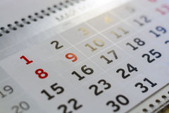 close-up calendar. concept planning, count the days, time management royalty free stock photo